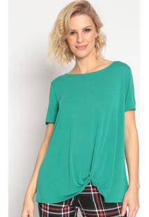 Blusa Com Torã§Ã£O- Verde- Seduã§Ã£O Dressseduã§Ã£O Dress