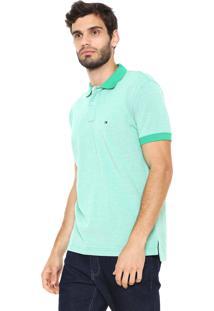 Camisa Polo Tommy Hilfiger Reta Essential Oxford Verde