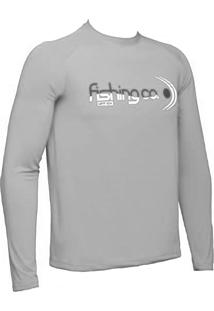 Camiseta Manga Longa Fishing Co. Cinza Ufp 50+ Ref. 1020