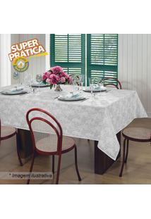 Toalha De Mesa Gardãªnia Elegance- Branca- 225X225Cm