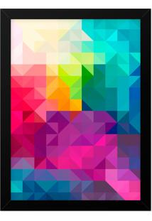 Quadro Adoraria A3 Geometrico Multicolorido