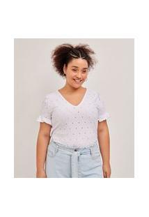 Blusa De Laise Curve E Plus Size Branco