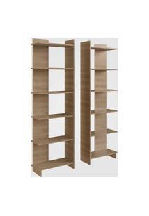 Estante Para Livros Com 6 Prateleiras Oak Completa Móveis