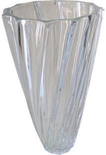 Vaso De Vidro Espiral 16X29Cm - Tecnoserv