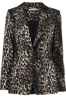 Alice+Olivia Blazer Tobby Com Animal Print - Marrom