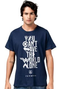 Camiseta Liga Da Justiça Dc Comics You Can´T Save Bandup! Masculina - Masculino