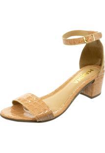 Sandalia Mariha Calçados Salto Bloco Croco - Kanui