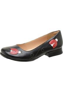 Sapato Feminino Miuzzi Preto / Rubi / Branco Ref: 3215 - Kanui