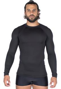 Camisa Bravaa Modas Térmica 037 Preta