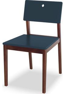 Cadeira Flip 81 Cm 921 Cacau/Azul Noite - Maxima