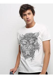 Camiseta Ellus Masculina - Masculino-Off White