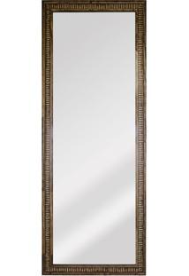 Espelho Retangular Moldura De Madeira Natural Com Betume Cartagena 151X56Cm