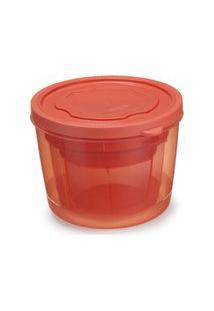 Conjunto De Pote Redondo Com Tampa Plástico 3 Peças Colorido