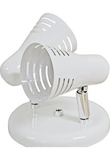 Spot Dital Retrô 260/2 Branco Com Cromado