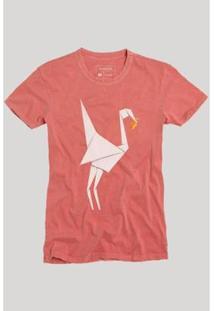 Camiseta Reserva Origami - Masculino-Vermelho Claro