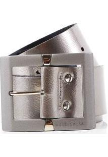 Cinto Cintura Quadril Medio Verniz Cinza