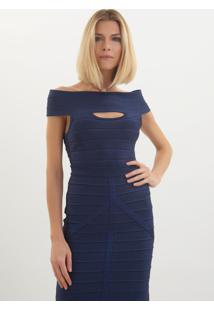 Body Le Lis Blanc Elena Tricot Azul Feminino (Cosmos, M)