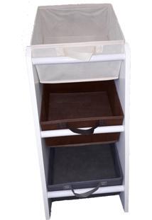 Organizador Organibox Porta Brinquedo Cinza Marrom Bege Mini