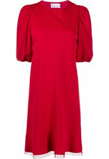 Redvalentino Vestido Com Detalhe De Tule - Vermelho
