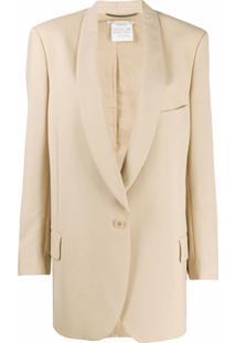Stella Mccartney Blazer Oversized Com Abotoamento Simples - Neutro