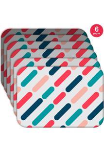 Jogo Americano Love Decor Wevans Geométrico Color Kit Com 6 Pçs