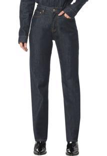 Calça Jeans 5 Pocktes High Rise Straight Ckj 030 High Rise Straigh - Marinho - 34