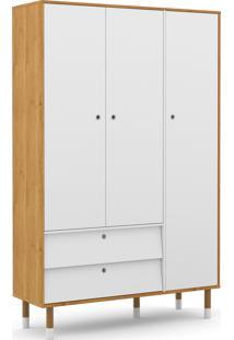 Roupeiro 3 Portas Up Freijã³/Branco Soft/Eco Wood Matic Mã³Veis - Branco - Dafiti