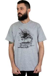 Camiseta Bleed American Vynil Cinza Mescla