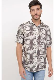 Camisa Comfort Estampada Palmeiras