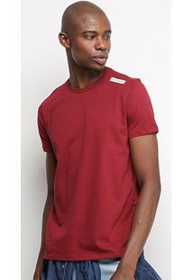 Camiseta T-Shirt Acostamento Básica Masculina - Masculino-Vinho