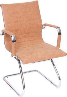 Cadeira Office Eames Esteirinha Retrã´- Castanho & Prateaor Design
