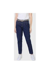 Calça Jeans Sawary Boyfriend Lisa Azul-Marinho