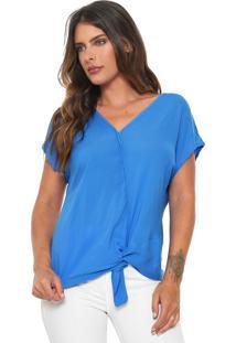 Blusa Mercatto Torção Azul