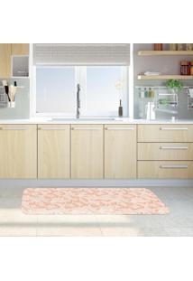 Tapete De Cozinha Mdecore Folhas Coral 40X120Cm
