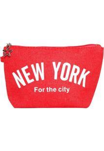 Necessaire Birô New York Feminina - Feminino-Vermelho