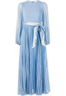 Zimmermann Vestido Com Estampa De Poás - Azul
