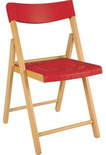 Cadeira Dobrável Verniz/Vermelho Potenza
