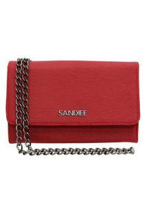 Bolsa Clutch Pequena Sandiee Oficial Vermelho