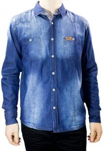 Camisa Jeans Masculina Gangster 15.13.0043