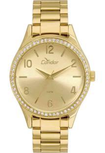 Relógio Condor Feminino Dourado Analógico Co2035Kuy/4D - Kanui