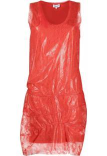 Kenzo Vestido Sem Mangas Com Sobreposição De Renda - Vermelho