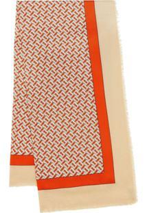 Burberry Echarpe Com Monograma - Vermelho