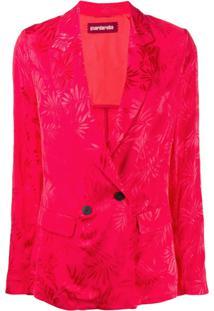 Guardaroba Blazer Com Estampa Floral - Vermelho
