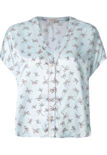 Morgan Lane Blusa De Pijama Joanie Estampada - Azul