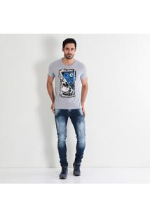 Camiseta Masculina Red Nose Quadro
