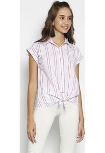 Camisa Listrada - Rosa & Branca - Moisellemoisele