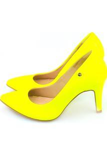 5f3856d443 Scarpin Amarelo Neon feminino
