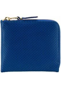 Comme Des Garçons Wallet Carteira Luxury Com Zíper - Azul