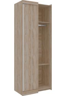 Guarda-Roupa Canto Reto Virtual 2 Portas S/Espelho Cedro Robel