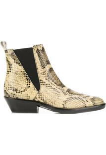 Isabel Marant Ankle Boot 'Drenky' De Couro - Neutro